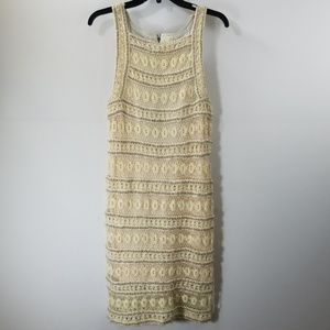 Free People New Romantics Crochet Shift Dress M